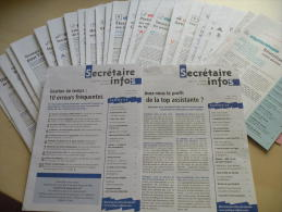 """Lot De 27 Mensuels """"SECRETAIRES INFOS"""" (Janvier 1998 A Juillet 2000)_L24 - Books, Magazines, Comics"""