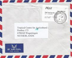 Mauritius 2011 Montagne Post Office Meter Franking Postage Paid EMA With Post Green Growth Handstamp Cover - Mauritius (1968-...)