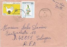 Benin 1996 Kandi Lions Club Dove Pigeon 150f Francophone Summit 200f Cover - Benin – Dahomey (1960-...)