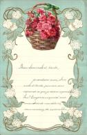 Superbe Lettre Gaufree Avec Decoupi - Fleurs - 1935 - Flowers