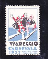 VIGNETTE VIAREGGIO - ITALIE - CARNAVAL 1932 - Otros
