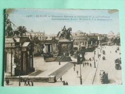 BERLIN - Nationaldenkmal Kaiser Wilhelm D.I U. Schlosstreiheit - Allemagne