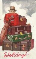 Railway Ephemera GWR Advance Luggage Holiday Without Worry Folder Advert Replica - Transportation Tickets