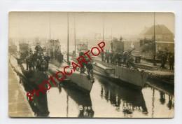 SOUS-MARINS Allemands-U-BOOT-Guerre14-18-1WK-Carte Photo Allemande-Militaria-Armement-Marine-Technique-Matelots- - Warships