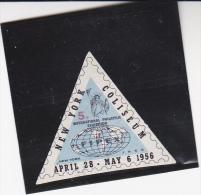 VIGNETTE ETATS-UNIS -NEW YORK-  EXPOSITION PHILATELIQUE INTERNATIONAL-FIPEX - 1956 - New-York - Siège De L'ONU