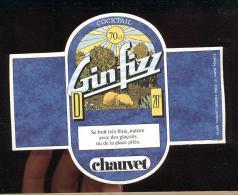 Etiquette  Dde Gin Fizz  -  Chauvet Nigériat  Le Havre  (76) - Etiquetas