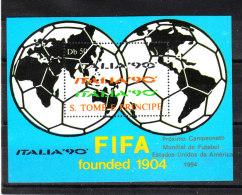 S. Tomé E Principe   -   1988.  Pre- Italia '90.  Globi E FIFA.  BF MNH - 1990 – Italia