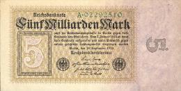 Deutschland, Germany - 5 Mrd. Mark, Reichsbanknote, Ro. 112 A,  ( Serie A ) VF ( III ), 1923 ! - 5 Mrd. Mark
