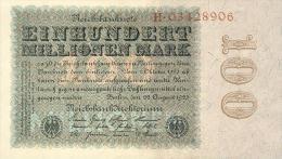 Deutschland, Germany - 100 Mio. Mark, Reichsbanknote, Ro. 106a,  ( Serie H ) XF ( II ), 1923 ! - 1918-1933: Weimarer Republik