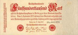 Deutschland, Germany - 500 000 Mark, Reichsbanknote, Ro. 91 B,  ( Serie B ) XF ( II ), 1923 ! - 1918-1933: Weimarer Republik