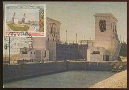CARTE MAXIMUM CM Card USSR RUSSIA Architecture River Channel Volga Don - 1923-1991 URSS