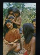 Cp - Explorama Lodge At Yanamono - Yagua Women Lice Picking - Amazon River From Iquitos - Perù