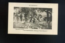 Cp -En Provence  - Eau Forte  De Valère Bernard -  La Farandole - Peintures & Tableaux