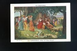 Cp -En Provence  - Tableau   De Valère Bernard -  La Farandole   ( En Couleur ) - Peintures & Tableaux