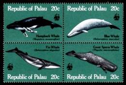 (024 T) Palau   Marine Life / Vie / Meerestiere / Whales / Wale / Baleines / WWF ** / Mnh  Michel 20-23 - Palau