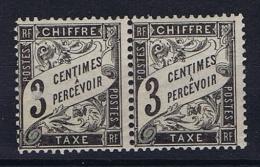 France Taxe Yv Nr 12 MNH/**  Paire - Segnatasse