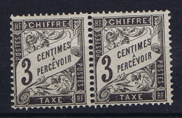 France Taxe Yv Nr 12 MNH/**  Paire - 1859-1955 Postfris