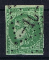 France: Yvert Nr 42,  Obl. GC 10 Acy-en-Multien - 1870 Bordeaux Printing