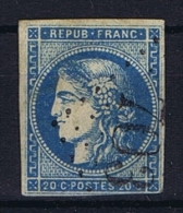 France: Yvert Nr 45A Type 2,  Obl. GC 703 Galvisson, Has Thin Spots - 1870 Uitgave Van Bordeaux