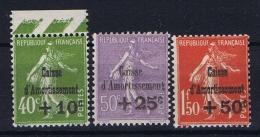 France: Yvert Nr 275 - 277, 1931, MH/*