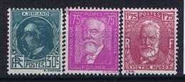France: Yvert Nr 291 - 293, 1933, MH/*