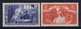France: Yvert  Nr 307 - 308 , 1935, MH/*