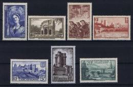 France: Yvert  Nr 388 - 394 , 1938, MH/*