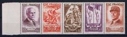 France: Yvert  Nr 576-580 Strip , 1943, MNH/**