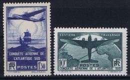 France: Yvert  Nr  320 - 321, 1936, MH/*