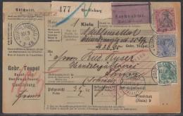 DR NN-Paketkarte Mif Minr.70,72,77 Quedlinburg 10.3.03 Gel. In Schweiz - Deutschland
