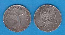 POLAND / POLONIA  5  ZLOTES  1.932  Y#18  Copy  T-DL-10.628 - Polonia