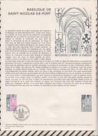 163 FDC 1ER JOUR MUSEE POSTAL 1974 FEUILLET BASILIQUE DE SAINT NICOLAS DE PORT - Documents De La Poste