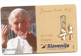 Impulz - 20 Units - Pope Joannes Paulus II - With Overprinted Front - 1996 - 5´000 - Slovenia