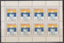 = Genova 92 Esposizione Mondiale Di Filatelia Tematica 18 - 27 September 1992 Autocollants  X 8 Neufs - Commemorative Labels