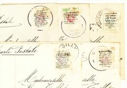Pk0527 Lot 5 Cpa Cartes Postales 1911 Fantasie Fraude Postale Geheime Boodschap Message Secret Sous Timbre Onder Postzeg - Cartes Postales [1909-34]