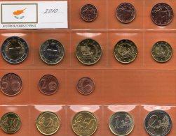 EURO-set Cyprus 2010 Stg. 24€ Stempelglanz Der Staatlichen Münze Zypern New Set 1C.-2€ Coins Of Republik Of South-Kibris - Cipro
