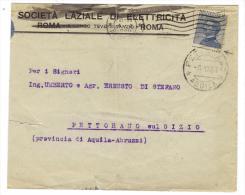 BOL1134 - REGNO , Lettera Per Pettorano 4/10/1920 : 25 Cent Con Dent Spostata - 1900-44 Vittorio Emanuele III