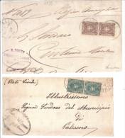 BOL1135 - REGNO , Due Frontespizi Di Lettera - 1878-00 Umberto I