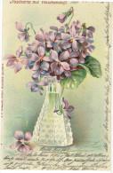 Verzierte Vase Mit Blumen, (Veilchenduft) 1902 Ab Lahr    ( 208 - Unclassified
