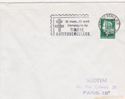 Saint-Denis Réunion 1970 - Flamme Timbre Antituberculeux - Croix Lorraine - Lettres & Documents