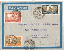 LBL23 - N.LLE CALEDONIE LETTRE AVION NOUMEA / MARSEILLE  27/1/1939 THEME TABAC - Briefe U. Dokumente