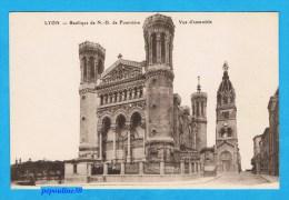 LYON (Rhône) BASILIQUE DE NOTRE-DAME DE FOURVIÈRE, VUE D´ENSEMBLE. - Lyon 1
