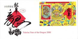 Tokelau 2000 Year Of The Dragon FDC - Tokelau
