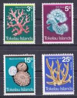 Tokelau 1973 Corals Set Of 4 MH - Tokelau