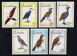 1971  Birds   Sc 105-111 MH - Lesotho (1966-...)