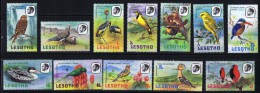 1981  Beautiful Complete Birds  In Their Natural Habitat   Sc 321-334  MNH - Lesotho (1966-...)