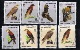 1968  Large Birds Set  MiNr 225-232  MNH - Umm Al-Qaiwain