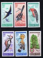 1966   Bird Set   Sc 1746-51  MH - Hungary