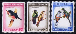 1964  Complet Birds Set Sc 602-4    MNH - Dominican Republic
