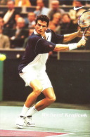 Netherlands Postcard Carte Postale Card Richard Krajicek Wimbledon Winner 2006 Backhand - Tennis